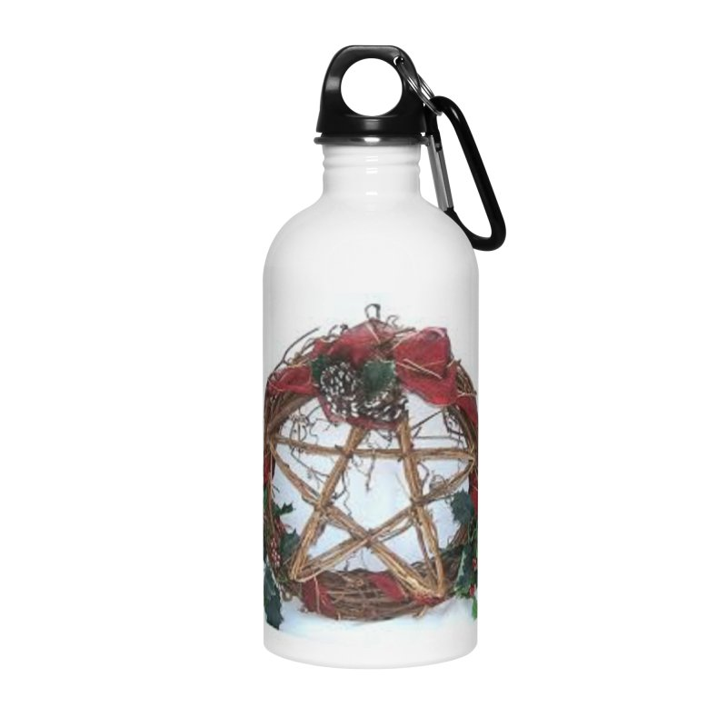 YuleWreath Accessories Water Bottle by The Ways of The Old's Artist Shop