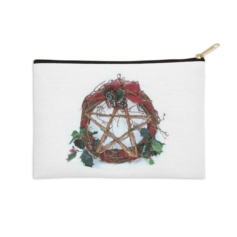 YuleWreath Accessories Zip Pouch by The Ways of The Old's Artist Shop