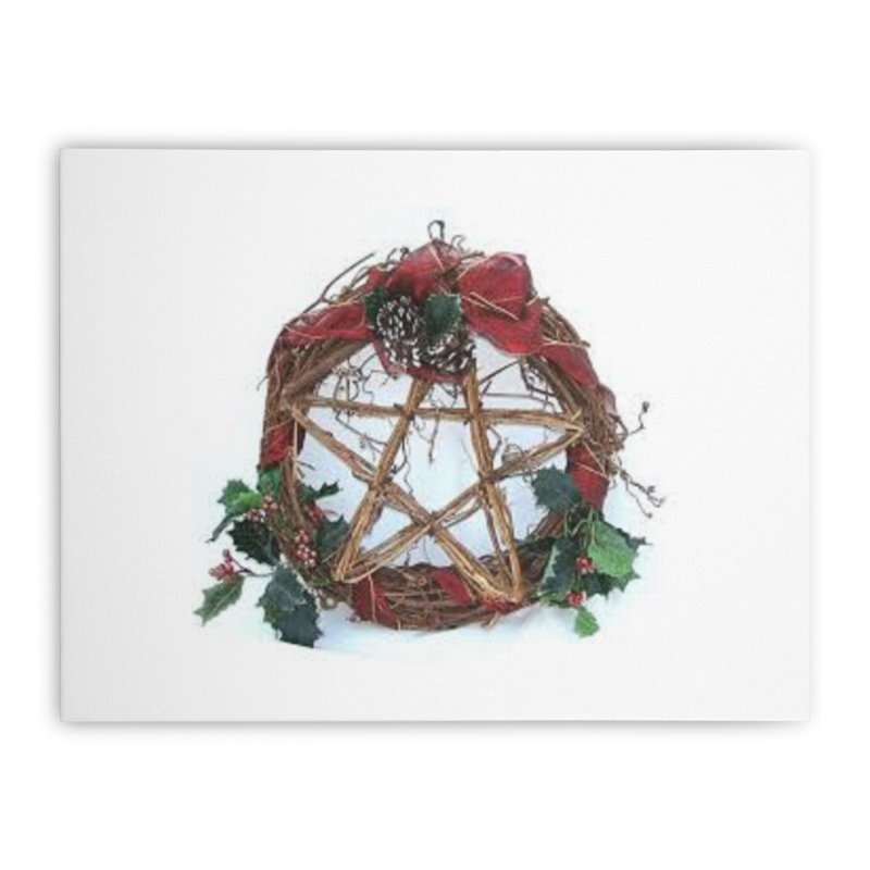 YuleWreath Home Stretched Canvas by The Ways of The Old's Artist Shop