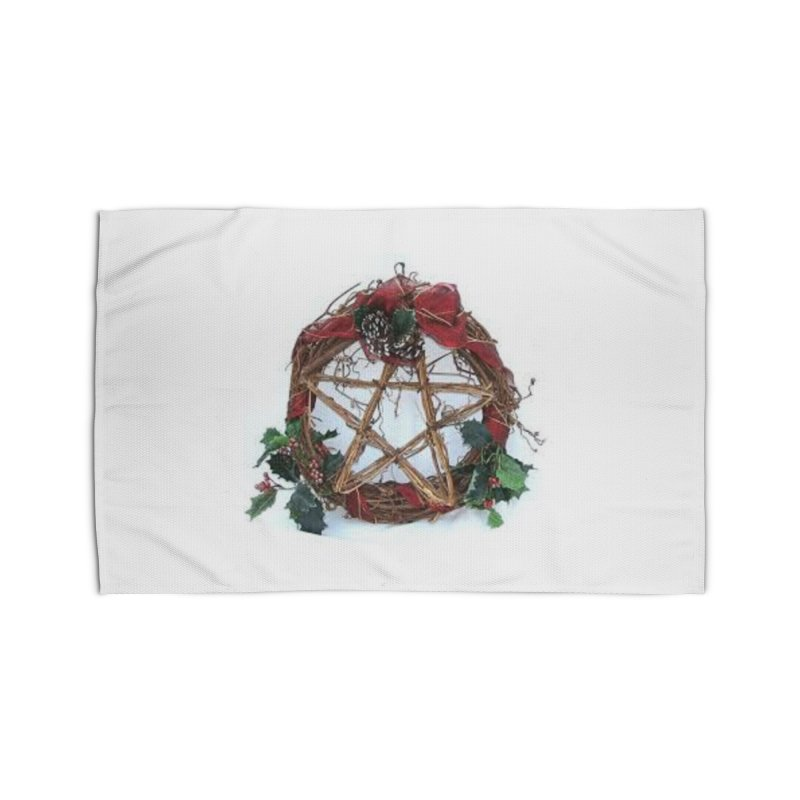 YuleWreath Home Rug by The Ways of The Old's Artist Shop