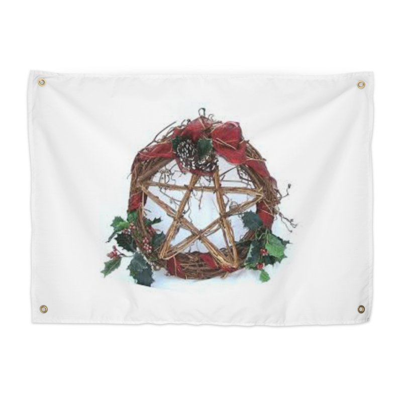 YuleWreath Home Tapestry by The Ways of The Old's Artist Shop