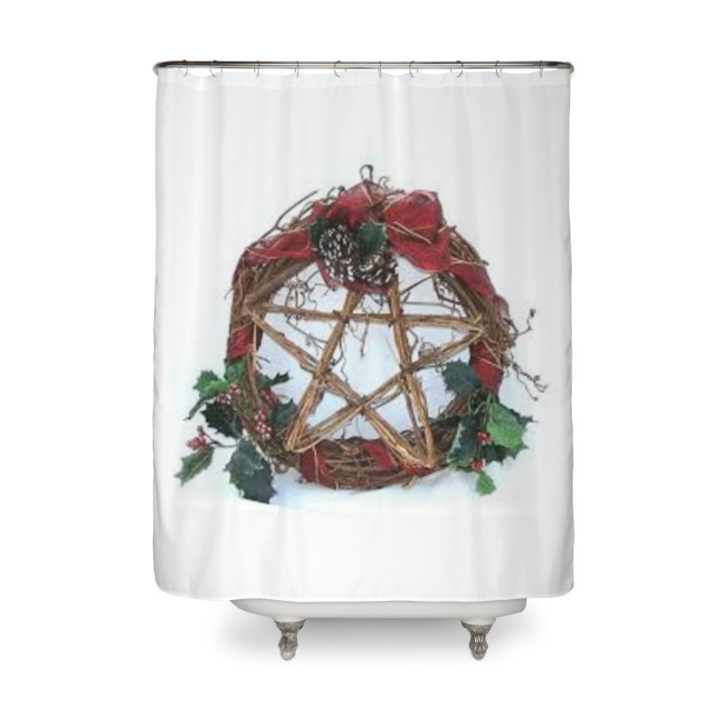 YuleWreath Home Shower Curtain by The Ways of The Old's Artist Shop