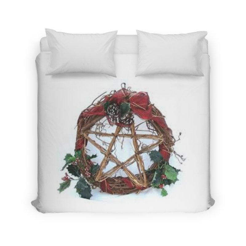 YuleWreath Home Duvet by The Ways of The Old's Artist Shop