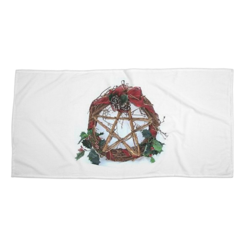 YuleWreath Accessories Beach Towel by The Ways of The Old's Artist Shop