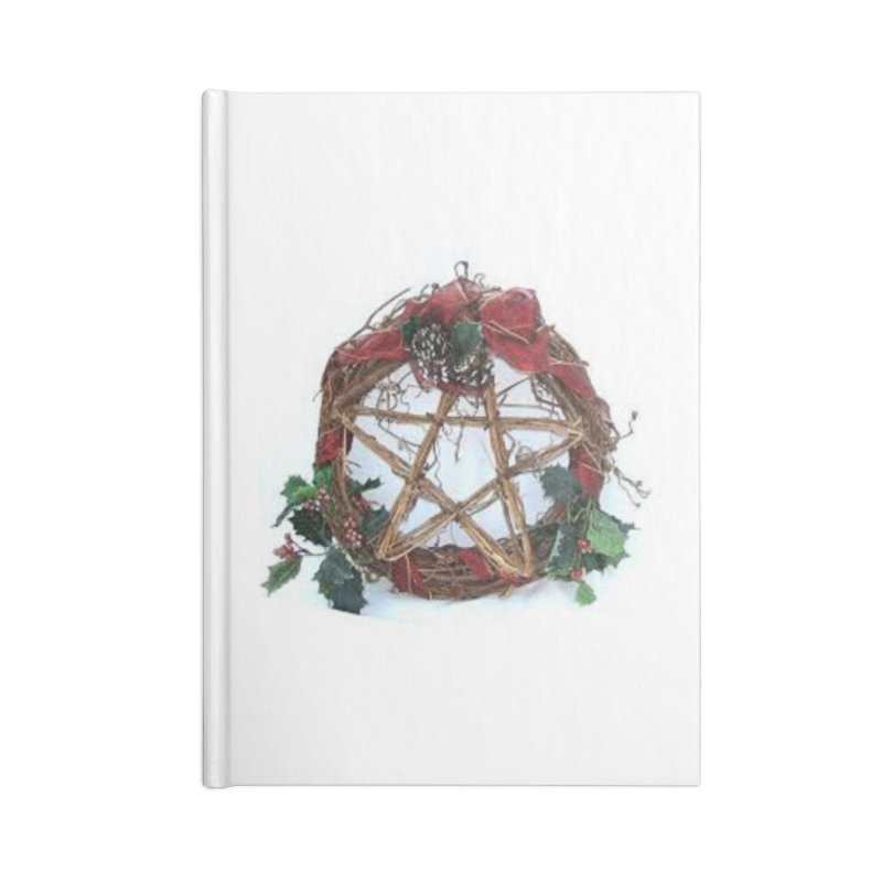 YuleWreath Accessories Lined Journal Notebook by The Ways of The Old's Artist Shop