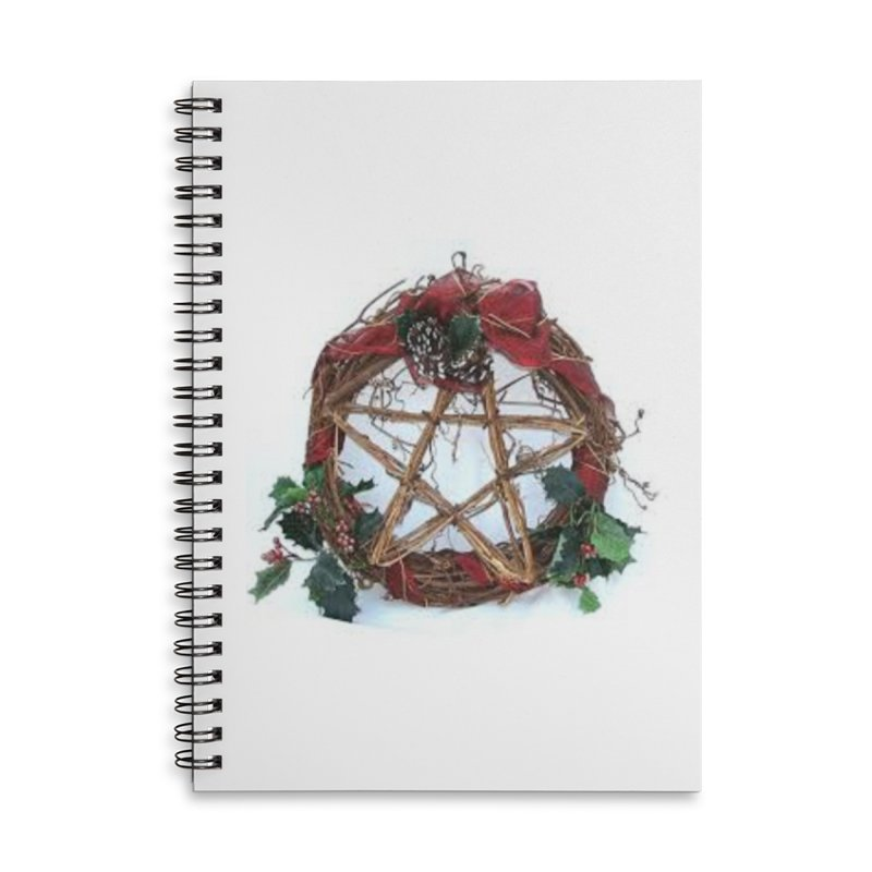 YuleWreath Accessories Lined Spiral Notebook by The Ways of The Old's Artist Shop