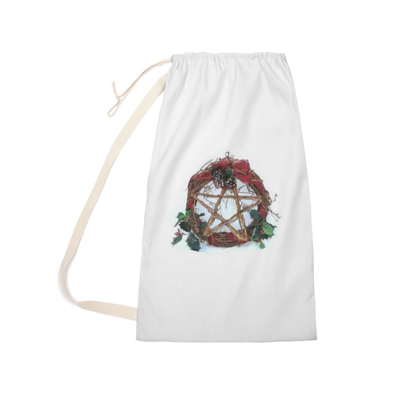 YuleWreath Accessories Laundry Bag Bag by The Ways of The Old's Artist Shop