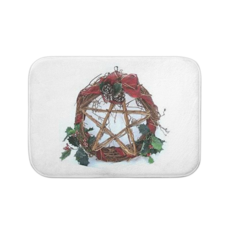 YuleWreath Home Bath Mat by The Ways of The Old's Artist Shop