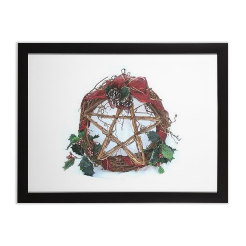 YuleWreath Home Framed Fine Art Print by The Ways of The Old's Artist Shop