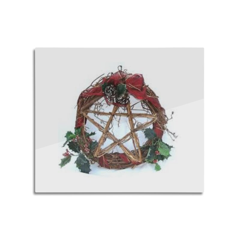 YuleWreath Home Mounted Aluminum Print by The Ways of The Old's Artist Shop