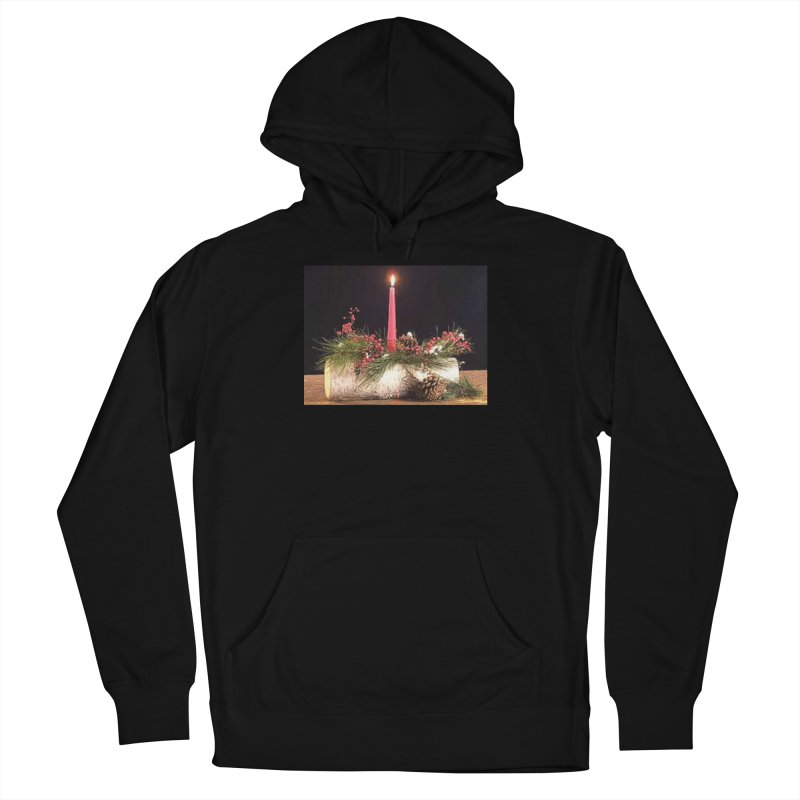 YuleLog Men's French Terry Pullover Hoody by The Ways of The Old's Artist Shop