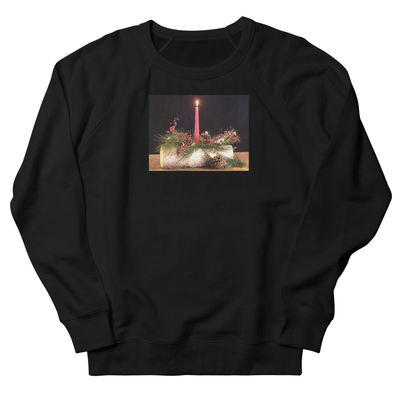 YuleLog Women's French Terry Sweatshirt by The Ways of The Old's Artist Shop