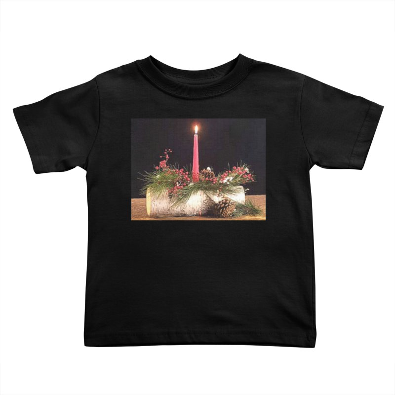 YuleLog Kids Toddler T-Shirt by The Ways of The Old's Artist Shop
