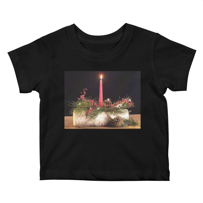 YuleLog Kids Baby T-Shirt by The Ways of The Old's Artist Shop