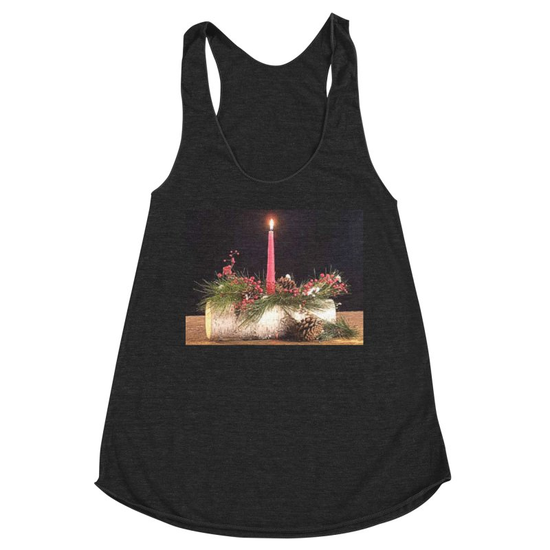 YuleLog Women's Racerback Triblend Tank by The Ways of The Old's Artist Shop