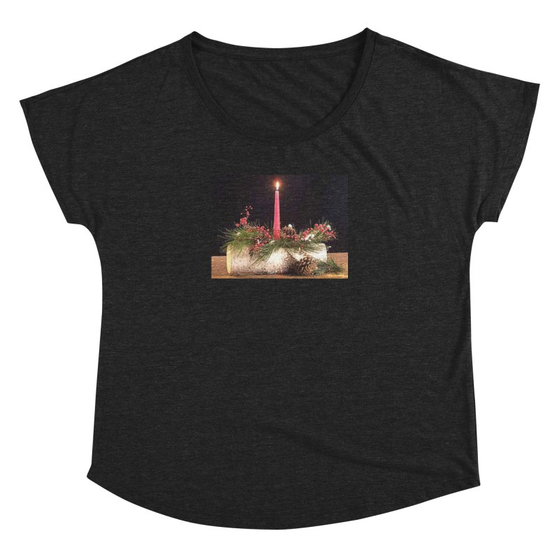 YuleLog Women's Dolman Scoop Neck by The Ways of The Old's Artist Shop