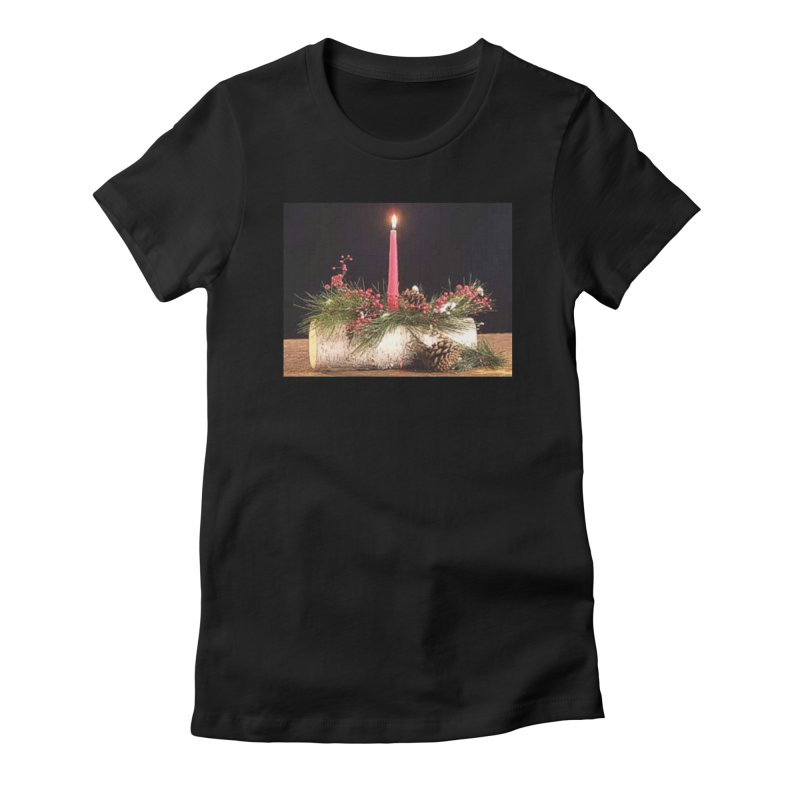 YuleLog Women's Fitted T-Shirt by The Ways of The Old's Artist Shop