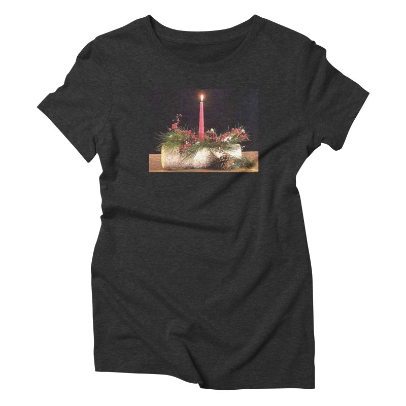 YuleLog Women's Triblend T-Shirt by The Ways of The Old's Artist Shop