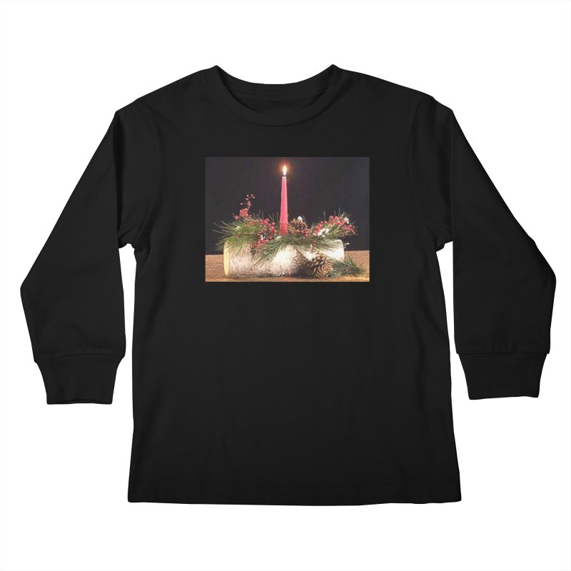 YuleLog Kids Longsleeve T-Shirt by The Ways of The Old's Artist Shop