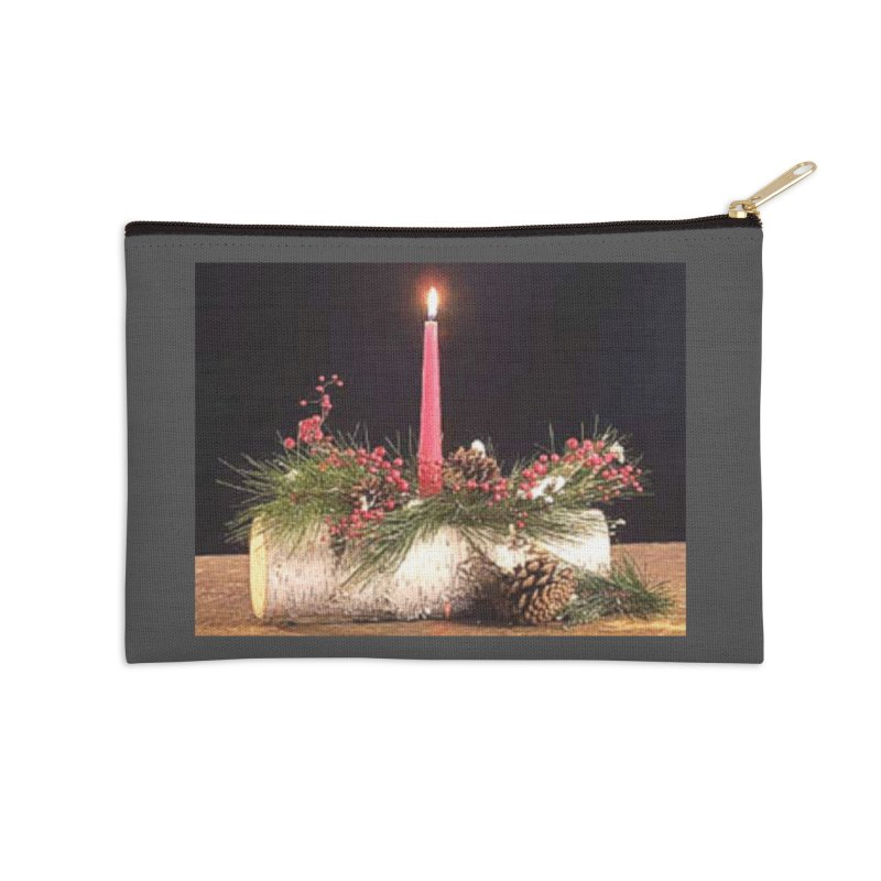YuleLog Accessories Zip Pouch by The Ways of The Old's Artist Shop