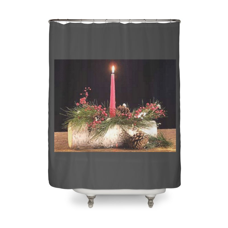 YuleLog Home Shower Curtain by The Ways of The Old's Artist Shop