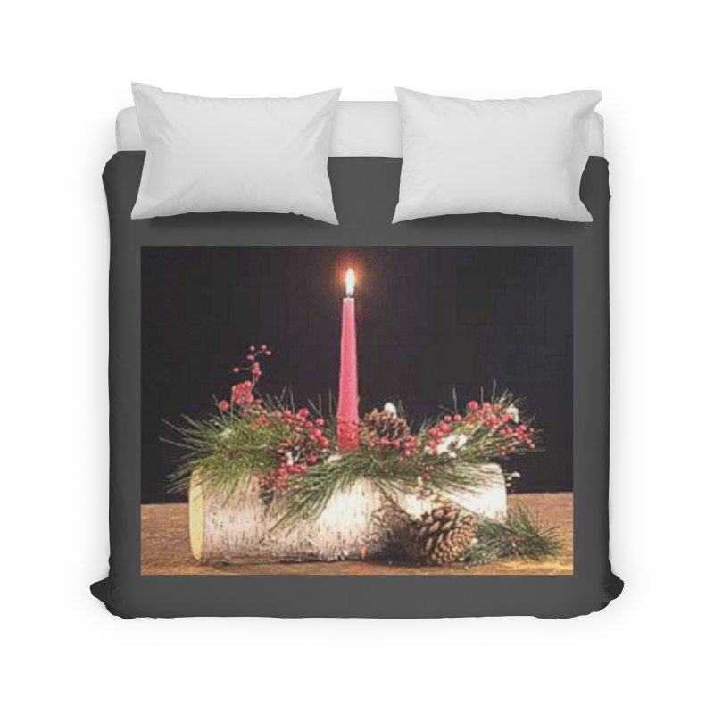YuleLog Home Duvet by The Ways of The Old's Artist Shop