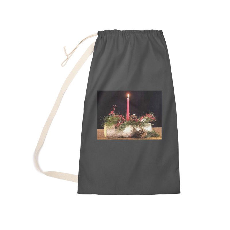 YuleLog Accessories Laundry Bag Bag by The Ways of The Old's Artist Shop