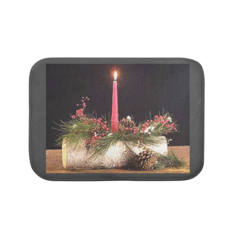 YuleLog Home Bath Mat by The Ways of The Old's Artist Shop