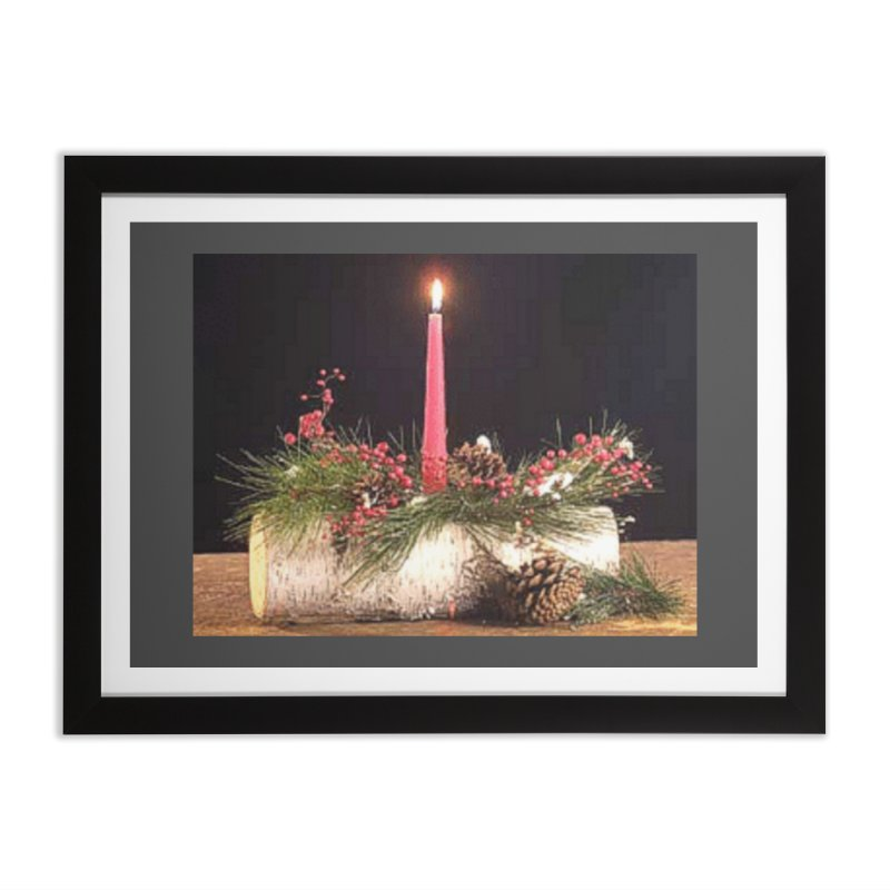 YuleLog Home Framed Fine Art Print by The Ways of The Old's Artist Shop