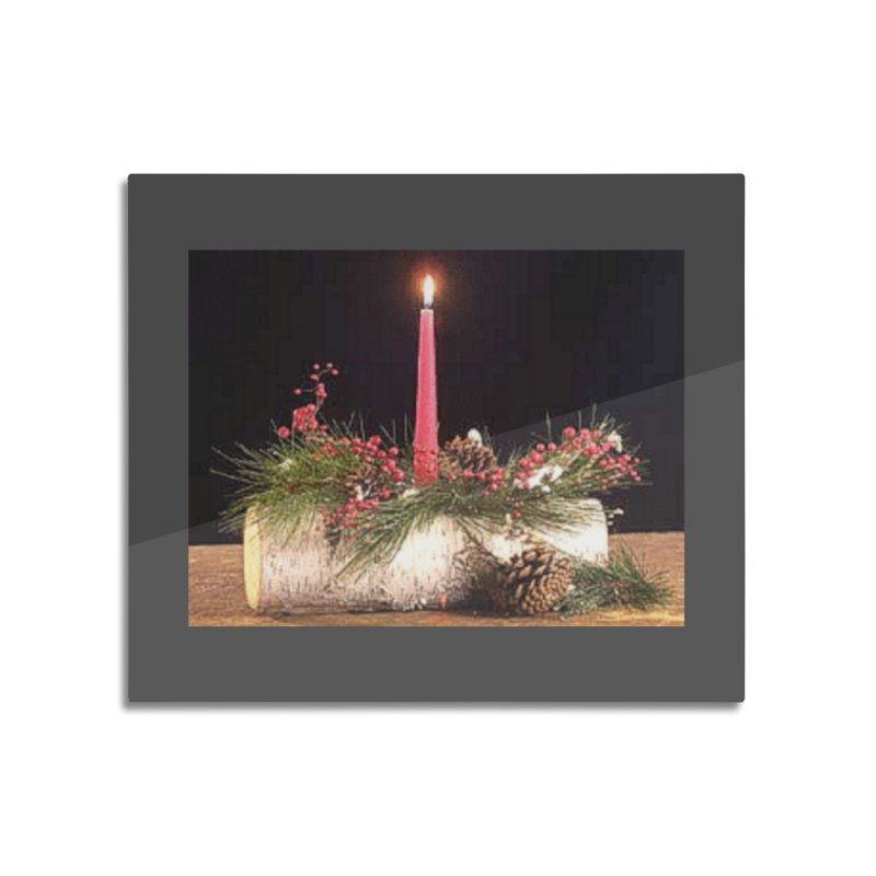 YuleLog Home Mounted Aluminum Print by The Ways of The Old's Artist Shop