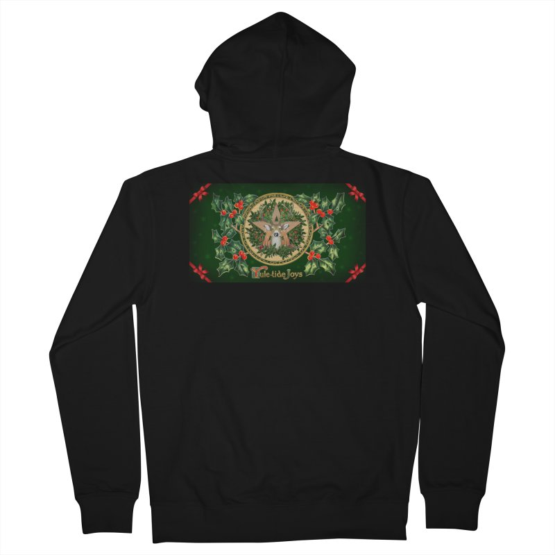 Yule-Tide Joys Men's French Terry Zip-Up Hoody by The Ways of The Old's Artist Shop
