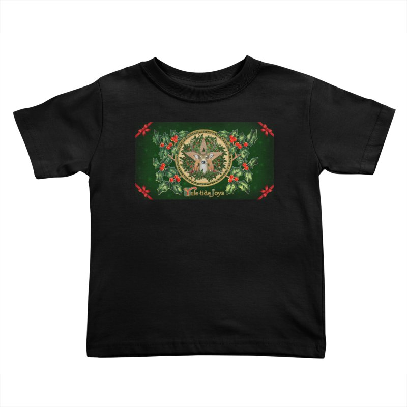 Yule-Tide Joys Kids Toddler T-Shirt by The Ways of The Old's Artist Shop