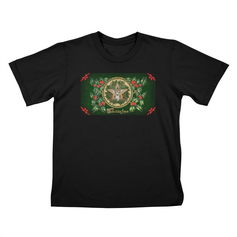 Yule-Tide Joys Kids T-Shirt by The Ways of The Old's Artist Shop