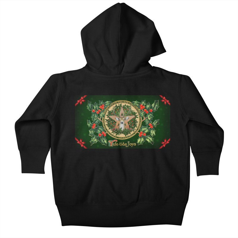 Yule-Tide Joys Kids Baby Zip-Up Hoody by The Ways of The Old's Artist Shop