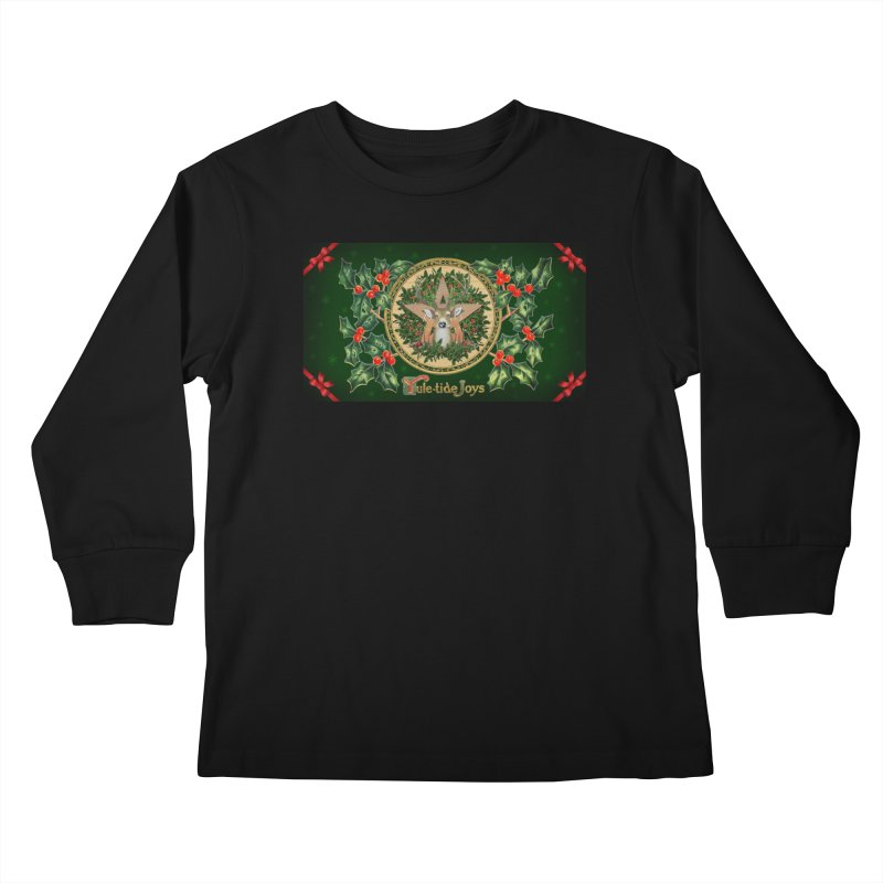 Yule-Tide Joys Kids Longsleeve T-Shirt by The Ways of The Old's Artist Shop