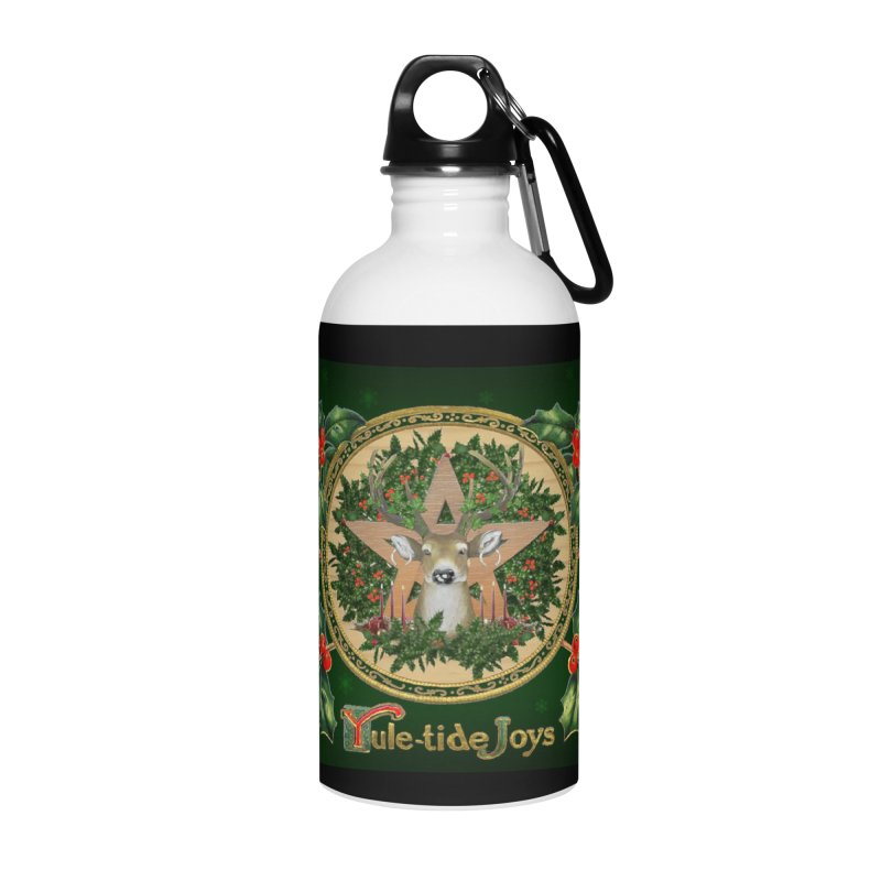 Yule-Tide Joys Accessories Water Bottle by The Ways of The Old's Artist Shop