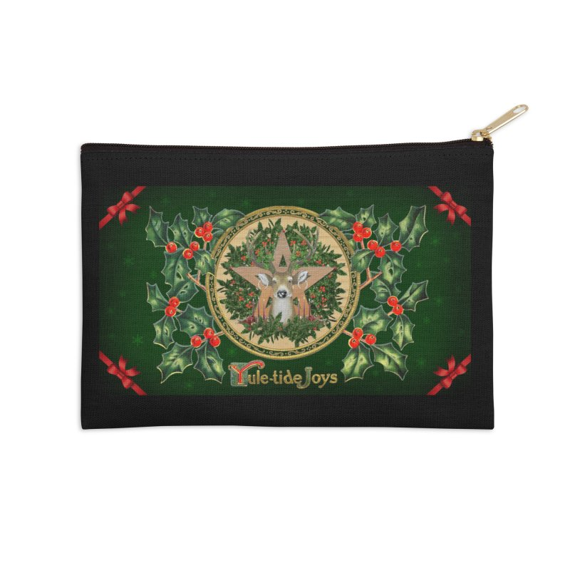Yule-Tide Joys Accessories Zip Pouch by The Ways of The Old's Artist Shop