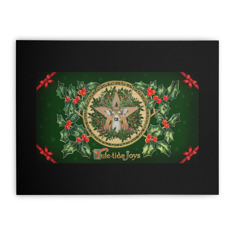Yule-Tide Joys Home Stretched Canvas by The Ways of The Old's Artist Shop
