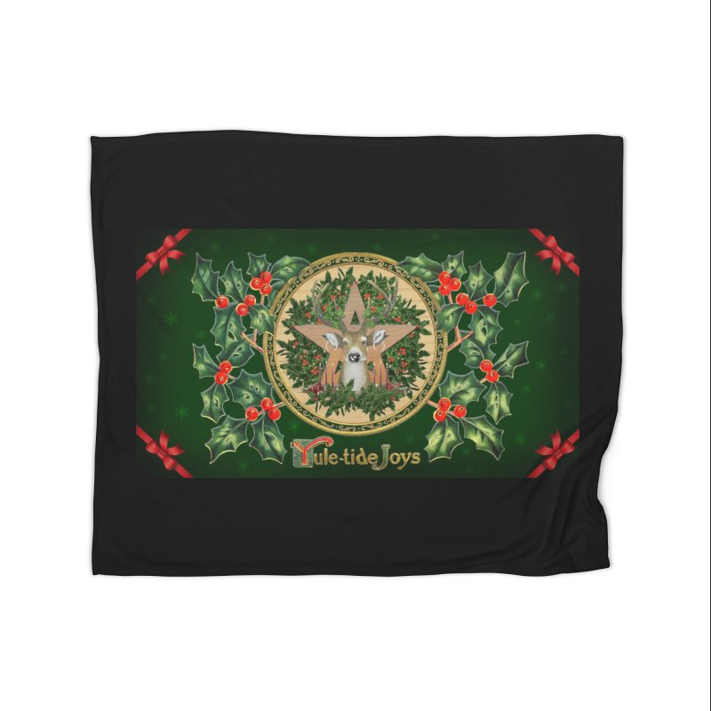 Yule-Tide Joys Home Blanket by The Ways of The Old's Artist Shop