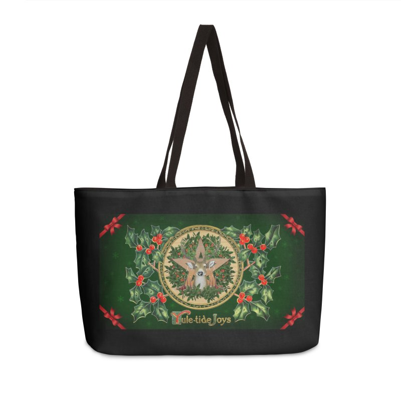 Yule-Tide Joys Accessories Weekender Bag Bag by The Ways of The Old's Artist Shop