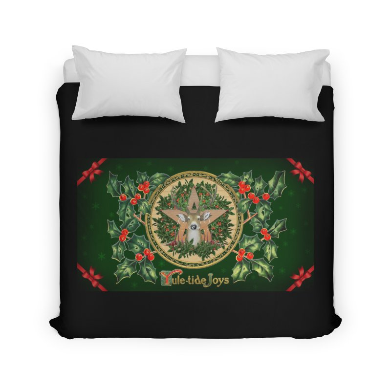 Yule-Tide Joys Home Duvet by The Ways of The Old's Artist Shop