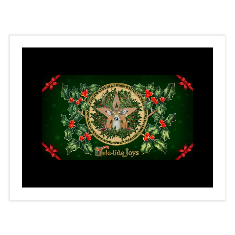 Yule-Tide Joys Home Fine Art Print by The Ways of The Old's Artist Shop