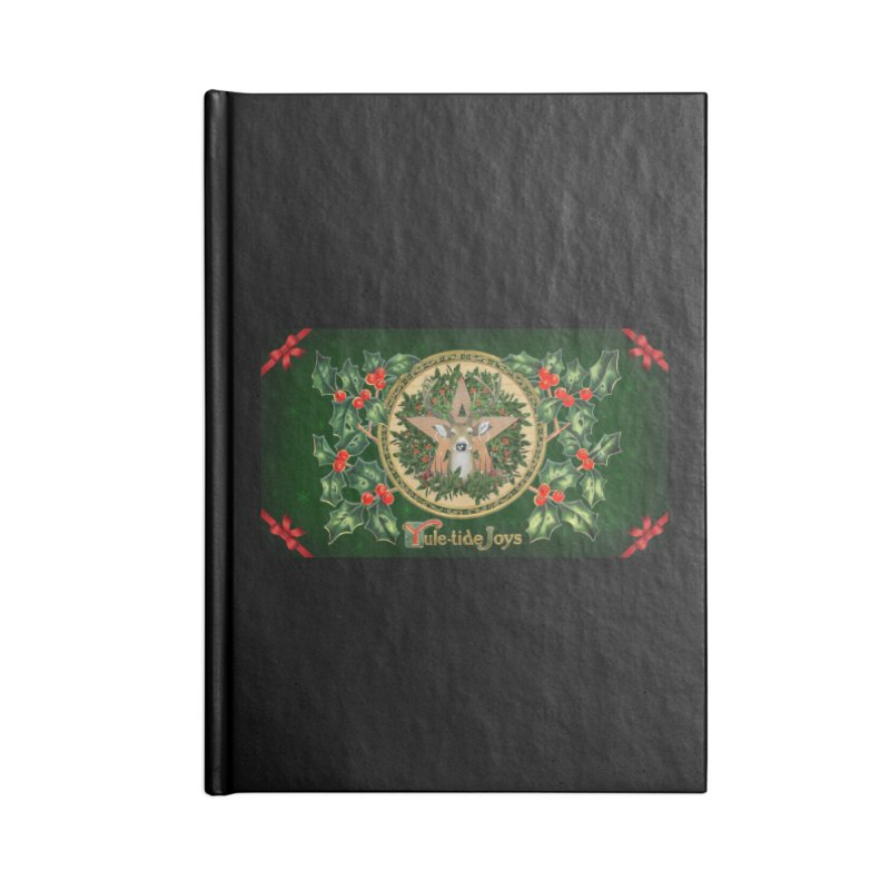 Yule-Tide Joys Accessories Lined Journal Notebook by The Ways of The Old's Artist Shop