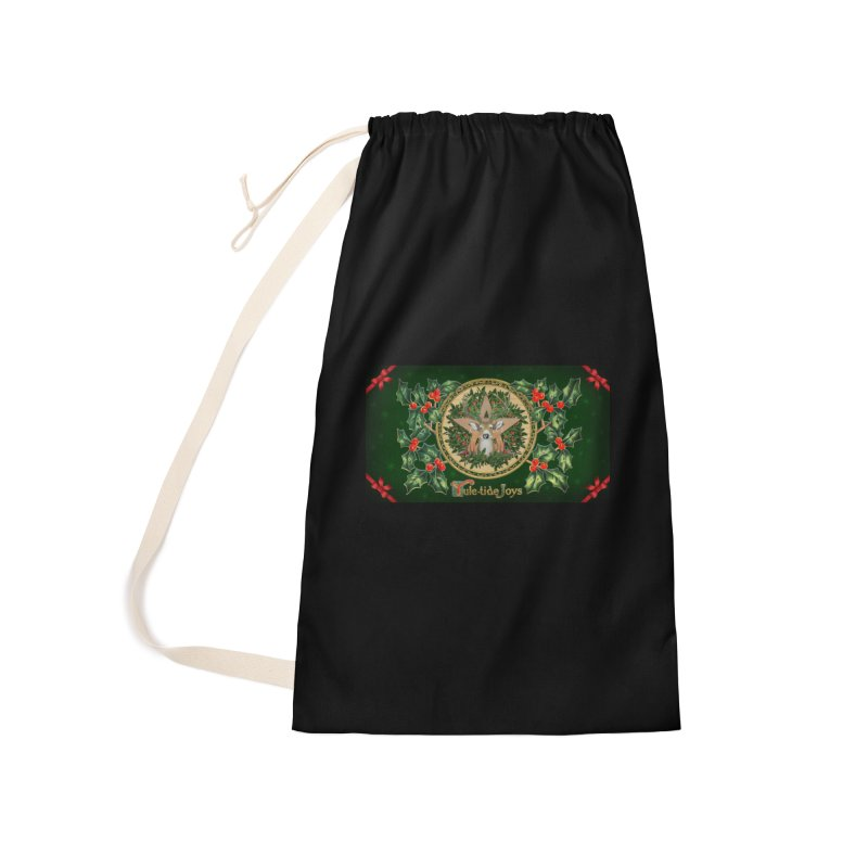Yule-Tide Joys Accessories Laundry Bag Bag by The Ways of The Old's Artist Shop
