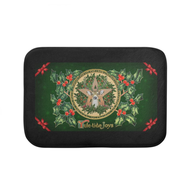 Yule-Tide Joys Home Bath Mat by The Ways of The Old's Artist Shop