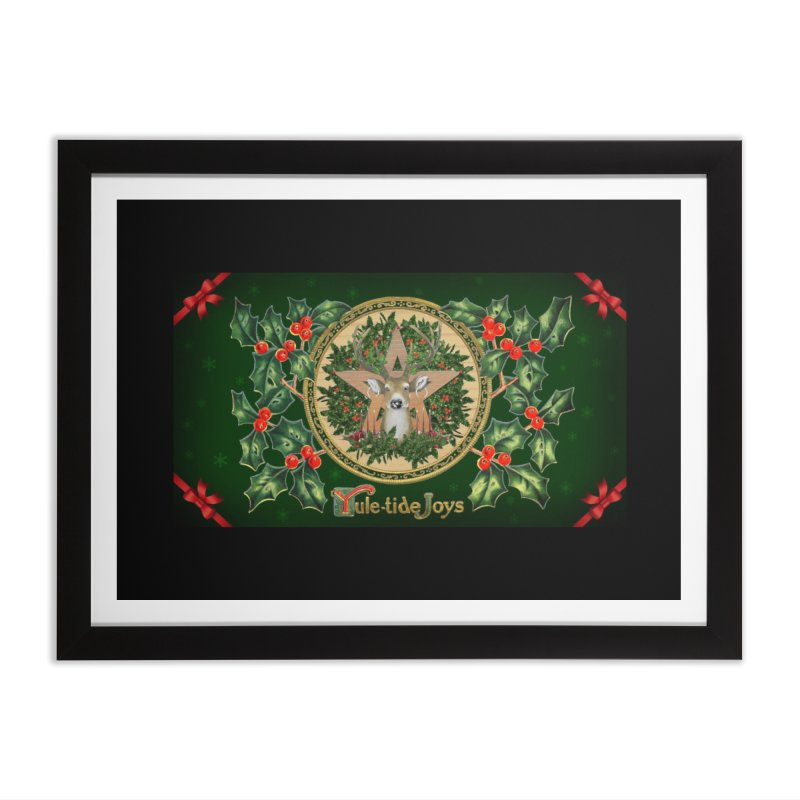 Yule-Tide Joys Home Framed Fine Art Print by The Ways of The Old's Artist Shop
