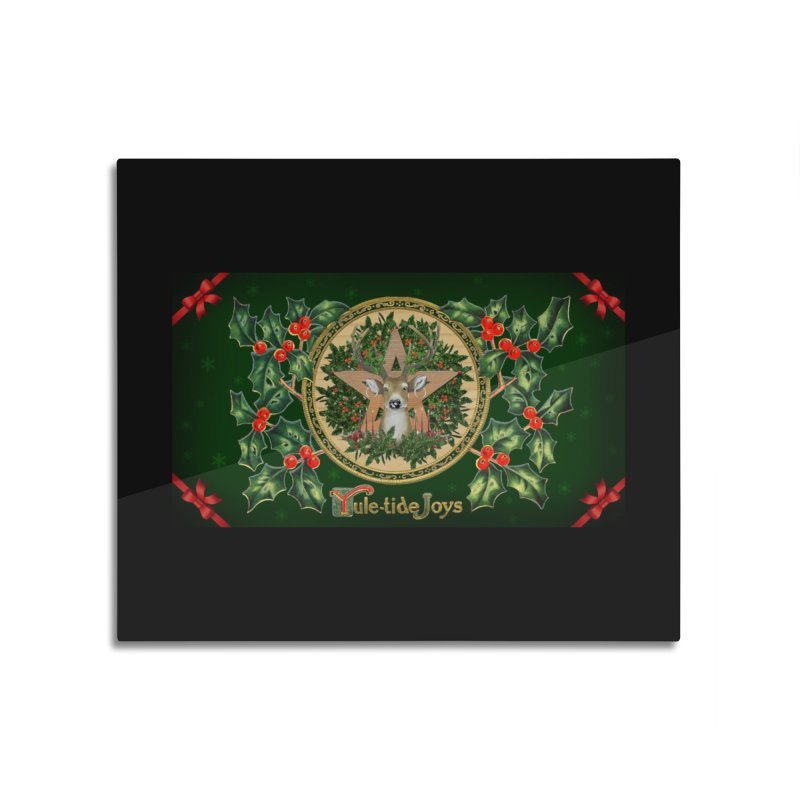 Yule-Tide Joys Home Mounted Aluminum Print by The Ways of The Old's Artist Shop