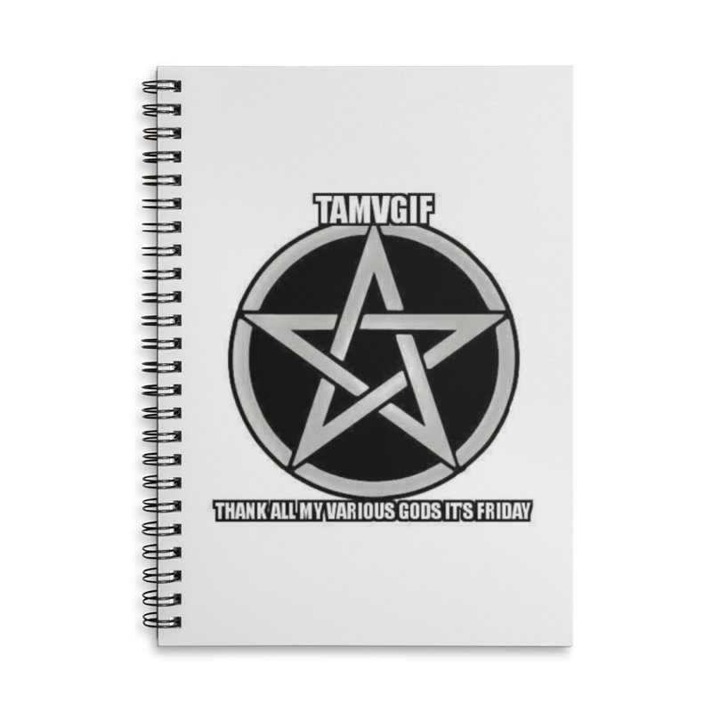 tamvgit Accessories Lined Spiral Notebook by The Ways of The Old's Artist Shop