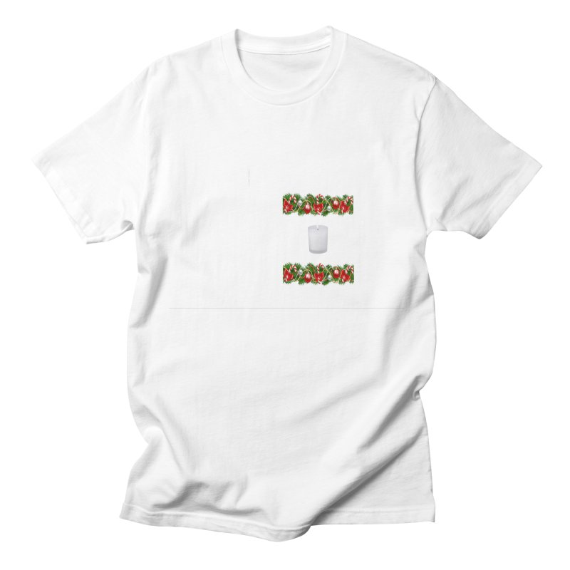 whitecandlegarland Women's Regular Unisex T-Shirt by The Ways of The Old's Artist Shop