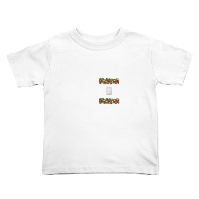 whitecandlegarland Kids Toddler T-Shirt by The Ways of The Old's Artist Shop
